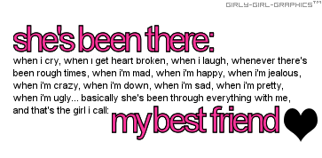girly best friend sayings | Best Friend Quote: girly-girl-graphics ...