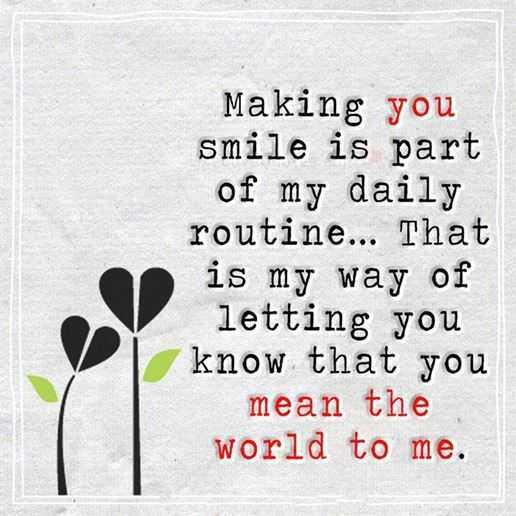 Best Love Quotes: Love Sayings Making You Smile My daily Routine ...