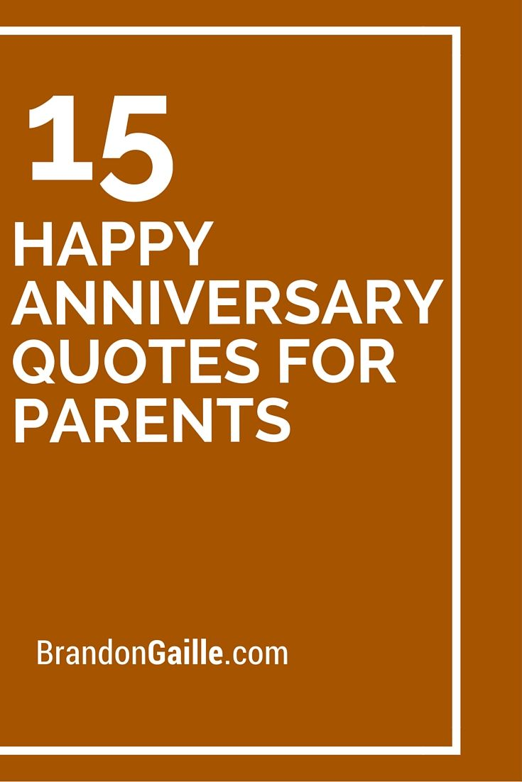 15 Happy Anniversary Quotes For Parents | Happy ...