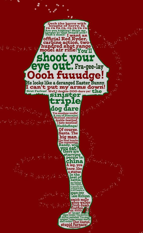 A Christmas Story funny quote poster 12x18 by ...