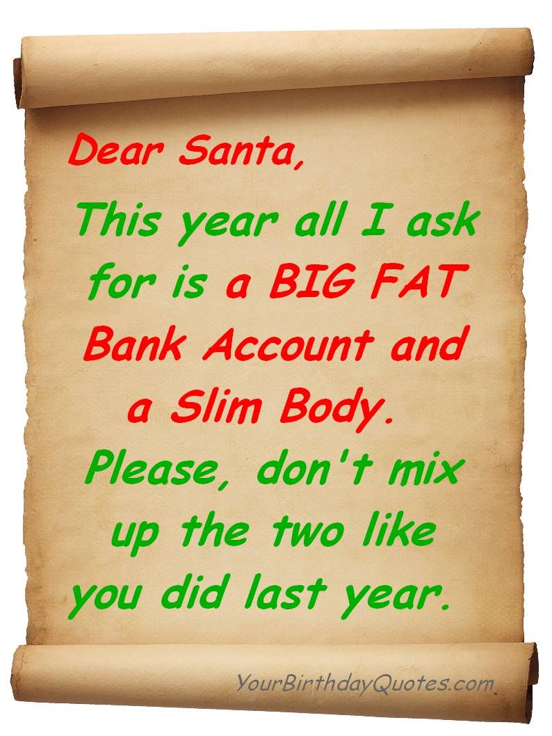 Dear Santa...This Year All I Ask For.... Pictures, Photos ...
