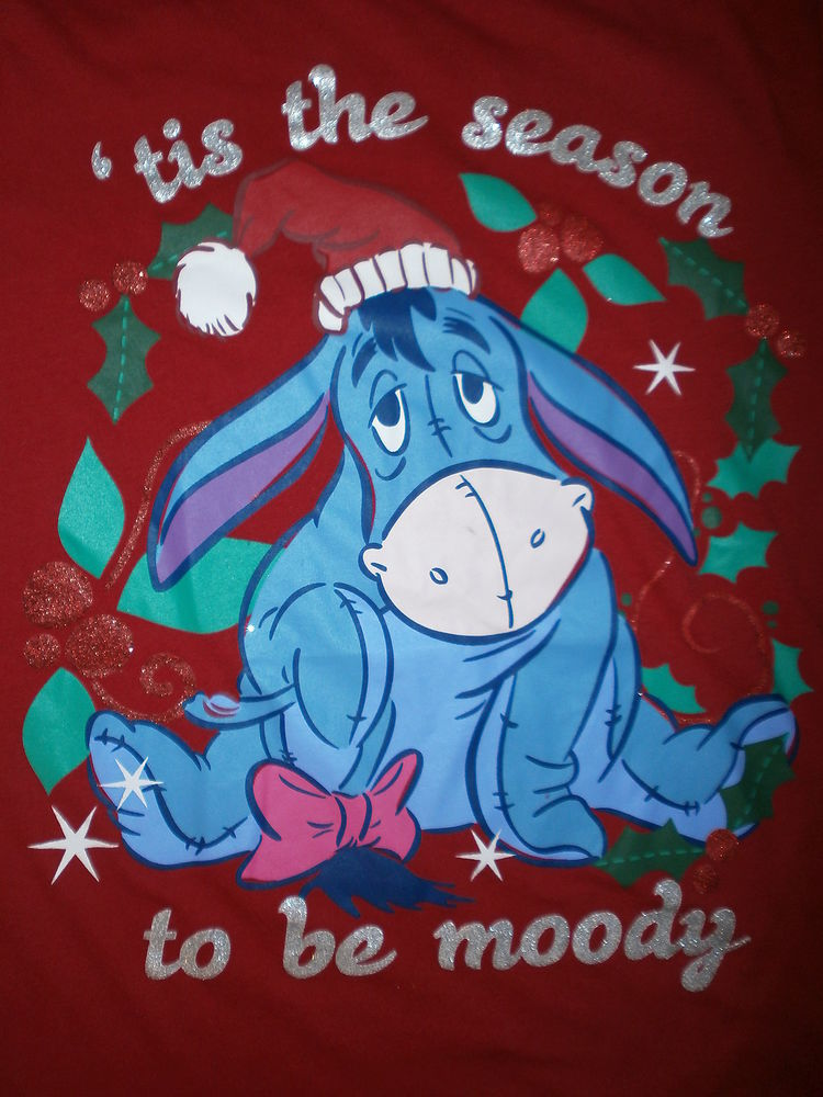 EEYORE CHRISTMAS T SHIRT Tis Season To Be MOODY Holiday ...