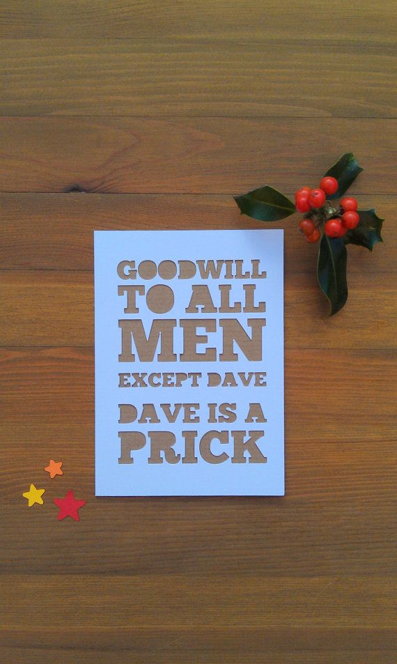 Funny Papercut Christmas Card | Inappropriate Xmas Card ...