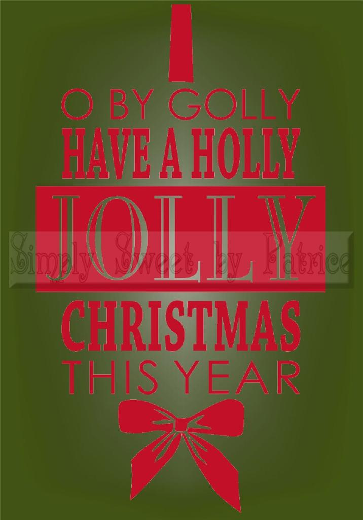 Have A Jolly Christmas Vinyl Wall Saying Lettering Quote ...
