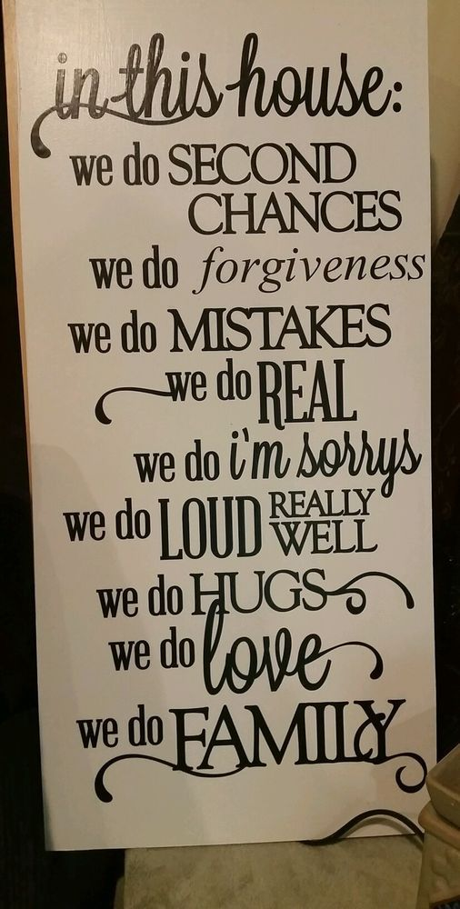In This House We do forgiveness Family Quote Wooden Wall ...
