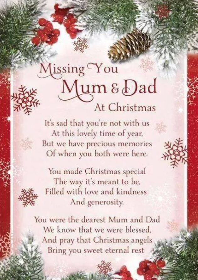 Missing my parents at Christmas | Holidays | Dad quotes ...