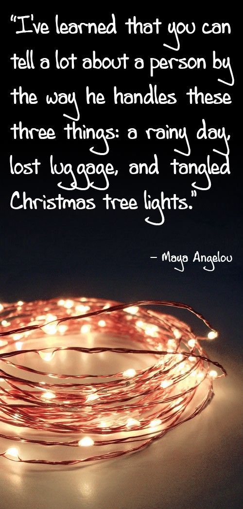 One of my favorite Maya Angelou quotes. Happy holidays to ...