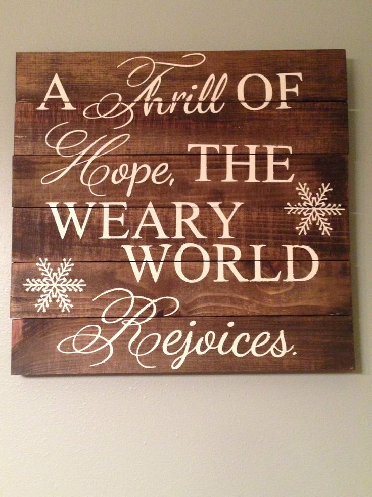 Pallet Wood Quote Art Christmas Carol by ...