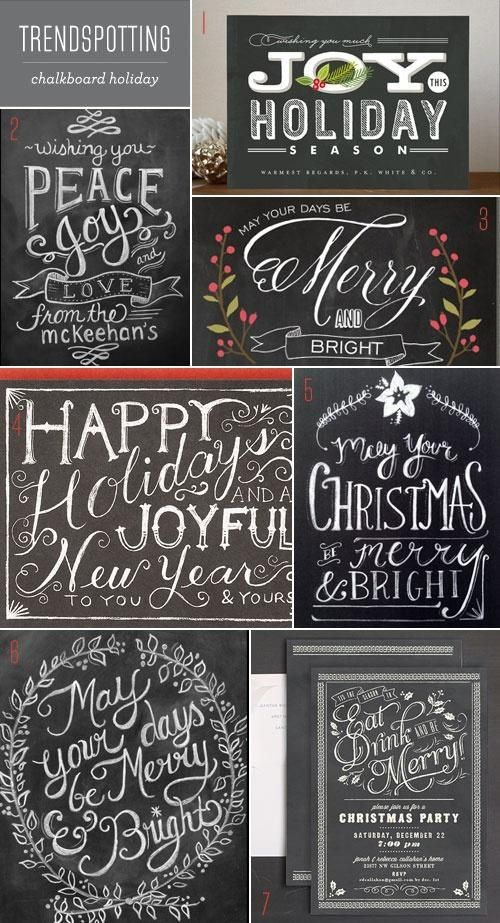 Round up of Christmas chalkboard printables and downloads ...