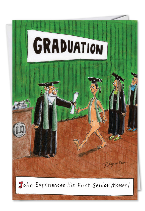 Senior Moment Funny Graduation Greeting Card|Nobleworks