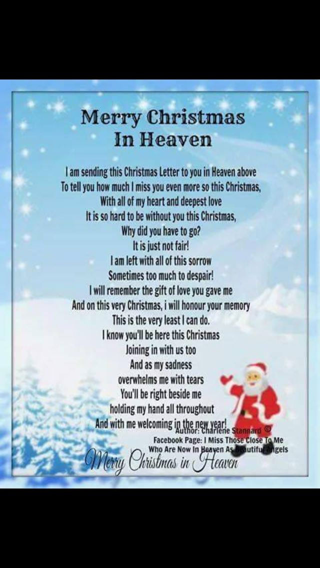 The 25+ best Merry christmas in heaven ideas on Pinterest ...