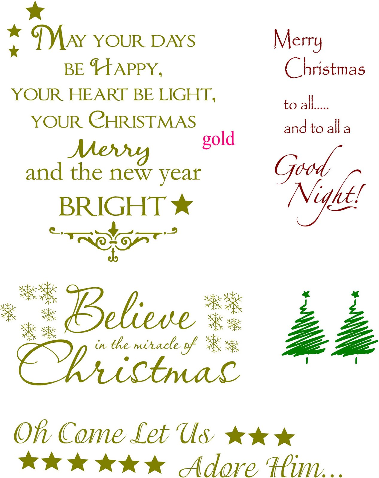Vinyl Lettering by Susie: Christmas Ideas!
